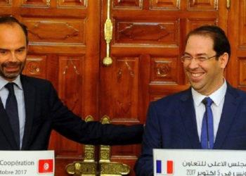 Chahed-et-le-Premier-ministre-français