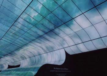 Exposition-«-LG-OLED-FALLS-»-à-Las-Vegas-