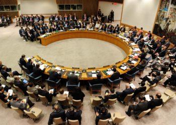 NEW YORK, 30 août (Xinhua) -- Les représentants participent à une réunion du Conseil de sécurité de l'ONU au siège de l'ONU à New York, le 30 août 2012. La réunion a été convoquée par la France, qui assume la présidence tournante du Conseil pendant ce mois-ci. Fin